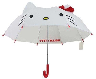 【卡漫迷】 Hello Kitty 童傘 立體造型 透明 視窗 ㊣版 凱蒂貓 造型 傘 日版 兒童 雨傘 迷你 安全收傘