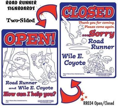 (I LOVE樂多)嗶嗶鳥與歪心狼Road Runner Signboard Welcome歡迎光臨正反面告式牌