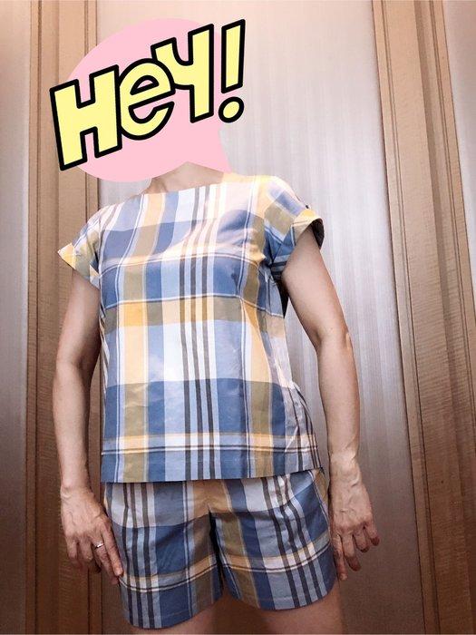 日本藍標 Burberry 格子短褲拍套裝