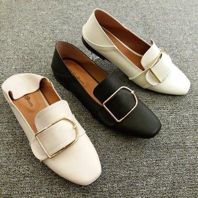 2穿牛津鞋 MIT台灣製 韓版超人氣熱賣款 文青氣息大D扣樂福鞋 -QH shoes