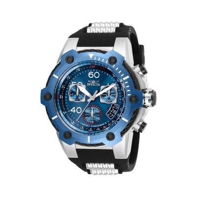 瑞士製 Invicta 人氣款27折! 52mm Bolt 鋼索藍黑三眼手錶男錶潛水錶25871, 25870全新真品