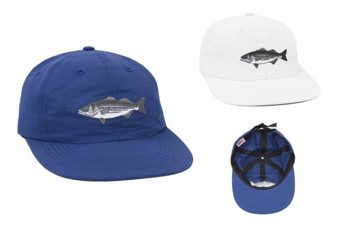 { POISON } ONLY NY STRIPED BASS POLO HAT 銀花鱸魚刺繡老帽棒球帽 美國製