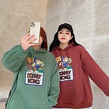 FQ3韓國專櫃大碼百分百2021年新款衛衣女200斤冬季加絨加厚寬松顯瘦連帽外套