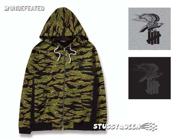 【 超搶手 】全新正品 冬季最新 Undefeated Eagle Strike Zip-Up 老鷹 帽夾外套 三色 S L