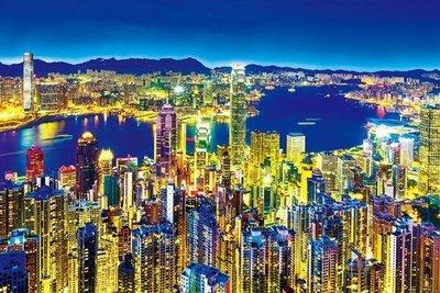 (藝)日本拼圖原裝進口拼圖 1000片夜光拼圖 世界三大夜景 香港 維多利亞港 1000-784