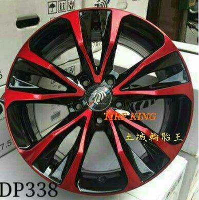 土城輪胎王 類 頂級 ALTIS 原廠 17吋鋁圈 黑底+陽極紅 5/100 5/114.3