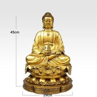 【凡了居】45厘米黃色藥師佛 純銅佛像藥師佛菩薩銅像家居佛堂擺件佛教客廳 雙福467