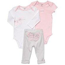 【安琪拉 美國童裝/生活小舖】Carter's 3件式套裝 -長短袖包屁衣/連身衣+長褲(蝴蝶)