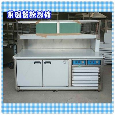 【東園餐飲設備】卡布里 6尺 工作台冰箱 (櫥窗冷藏/下半凍半藏)-雙壓縮機