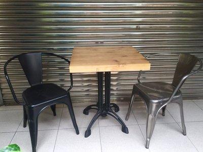 【 一張椅子 】商空愛用 Vintage 復古仿舊工業風 四爪鑄鐵實木餐桌 書桌