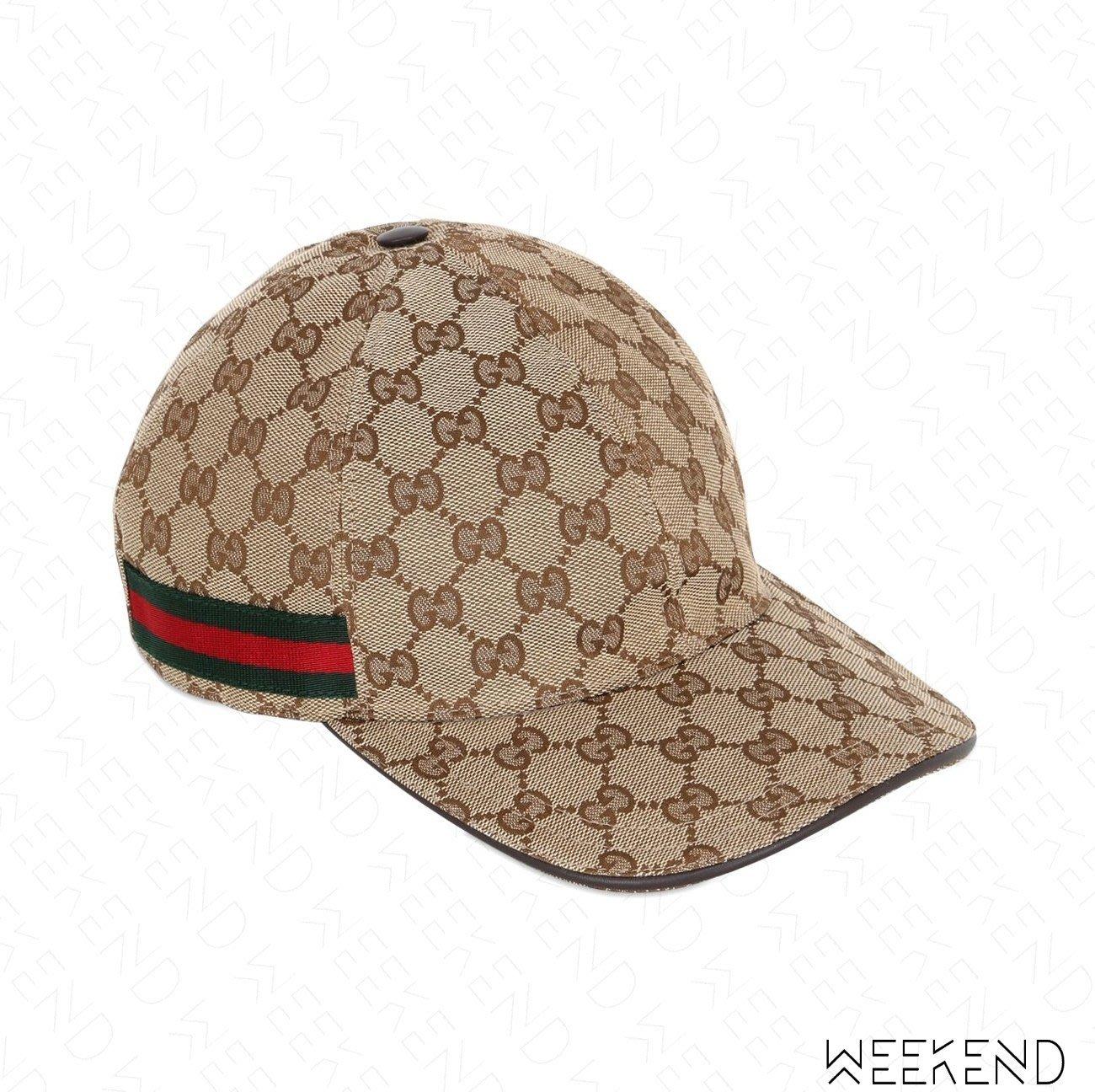 【WEEKEND】 現貨 GUCCI GG 經典 花紋 休閒帽 棒球帽 紅綠條紋 帽子 米色 200035 S/M