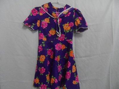 大熊舊書坊 -二手衣 童洋裝 寬36長75 60年代舊衣 -衣5