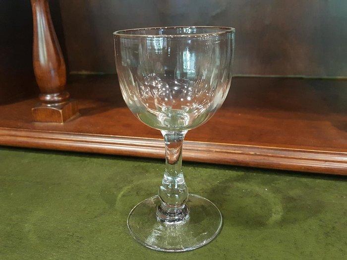 【卡卡頌 歐洲跳蚤市場/歐洲古董 】法國老件_手工雕刻水晶玻璃杯 酒杯 (高11cm) g0303