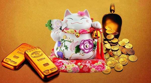 嘉芸的店 道樂堂招財貓 開幕禮品 新婚禮品 禮物 禮品 日本製 招財貓 牡丹花招財貓