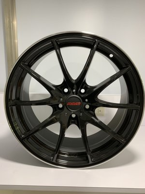 CR輪業 全新 RAVS 18吋鋁圈 5/100 亮黑 消光灰 完工價:5500 類 RAYS G25