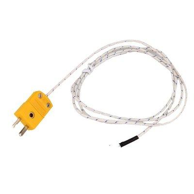 表面熱電偶K型感溫探頭露體溫度感測器耐高溫測溫線1米 W177.0427