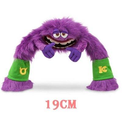 【美國大街】正品.美國迪士尼怪獸電力公司怪獸大學萬事OK社軟Q絨毛娃娃 Art 7.5吋 / 19cm