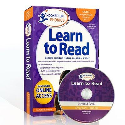 【西文優選】英文原版自然拼讀Hooked on Phonics Learn to Read Kindergarten-