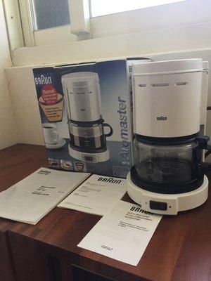 德國 百靈  咖啡壺  BRAUN 白色  4人 0.4L KF-12 KF12 (咖啡機+玻璃壺+濾網)