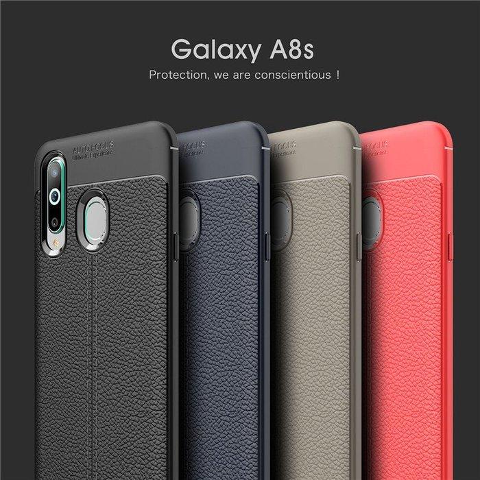 三星Galaxy A8S 2019版 手機殼 商務型 皮紋手感 皮紋手感 軟殼全包 攝像頭保護 防滑抗指紋 保護套 外殼