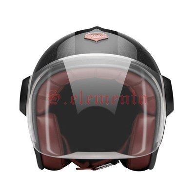 【預購優惠】Ateliers Ruby 安全帽 Belvedere Atlas 碳纖維 3/4 復古帽