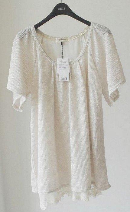 ☆UeF☆日本正品專櫃品超質感金絲線假二件式衫(新品)*特