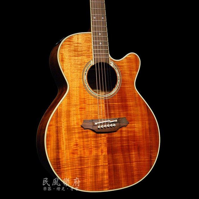 《民風樂府 》Takamine EF-508KC 日廠 全KOA夏威夷相思木電木吉他 加贈原廠全皮背帶