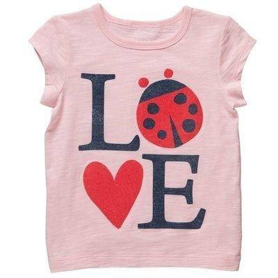 【Nichole's進口優質歐美童裝】Carter's女童粉紅瓢蟲LOVE短袖上衣*另有Old Navy/OshKosh