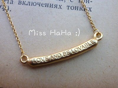 *Miss Ha Ha*C238韓.LOVE AND BE LOVABLE 祈願鎖骨鍊.現貨161002
