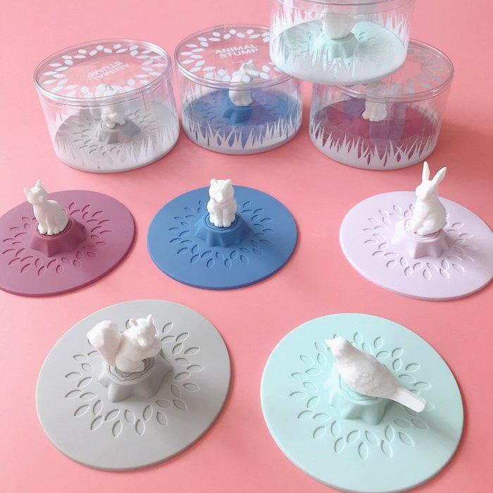 日本代購 杯蓋 矽膠杯蓋  童話動物杯蓋