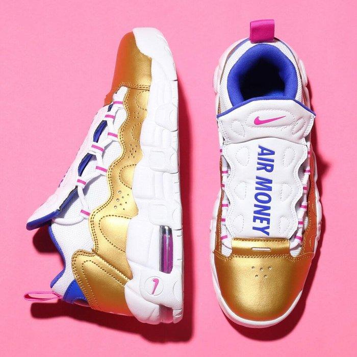 【Cheers】Nike Air More Money Uptempo 大AIR 白金 白藍桃 AH5215-101 女
