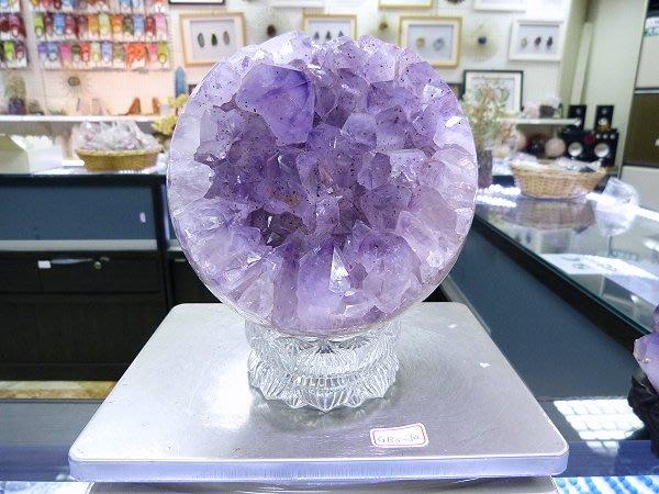 ☆寶峻鹽燈☆特價品出清~實品拍攝 紫水晶開口笑 GBS-30