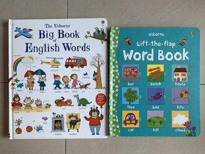 Big Book English Words及 Lift-the-fiap Word Book 2本英文書 合購700元