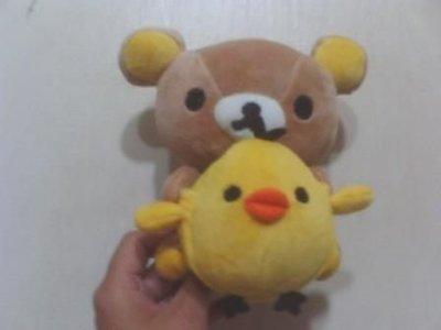 全新拉拉熊懶懶熊+小雞胸前小雞可放手機特別歐