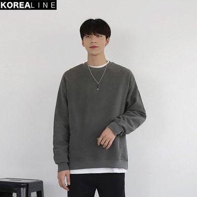 KOREALINE搖滾星球 / 拉克蘭袖圓領配色素面衛衣 / 5色 / FD111890