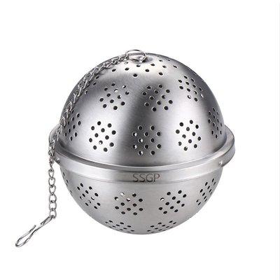 廚房用品304不鏽鋼調料球泡茶茶隔滷水過濾網香料包煲湯過濾球D193-1中號二入