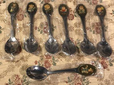 歐洲古物時尚雜貨 造型湯匙 卡通圖案 一組7件 擺飾品 古董收藏