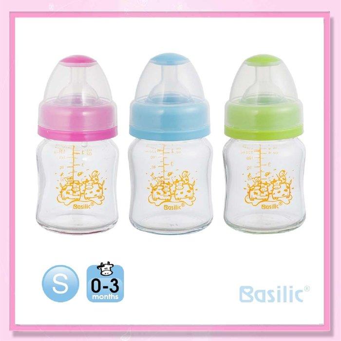 <益嬰房>貝喜力克 寬口徑 防脹氣高耐熱玻璃奶瓶120ml(D258) 1支入