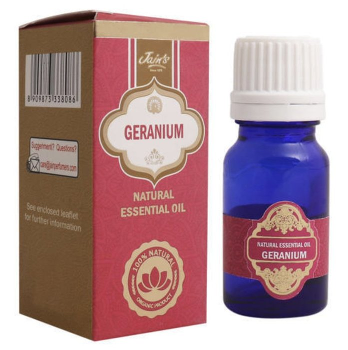 [綺異館]印度精油 天竺葵10ml JAIN'S GERANIUM 另售印度皂 印度香