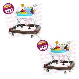 同富babybabe-360°旋轉靜音嬰幼兒學步車(藍色/卡其)B887