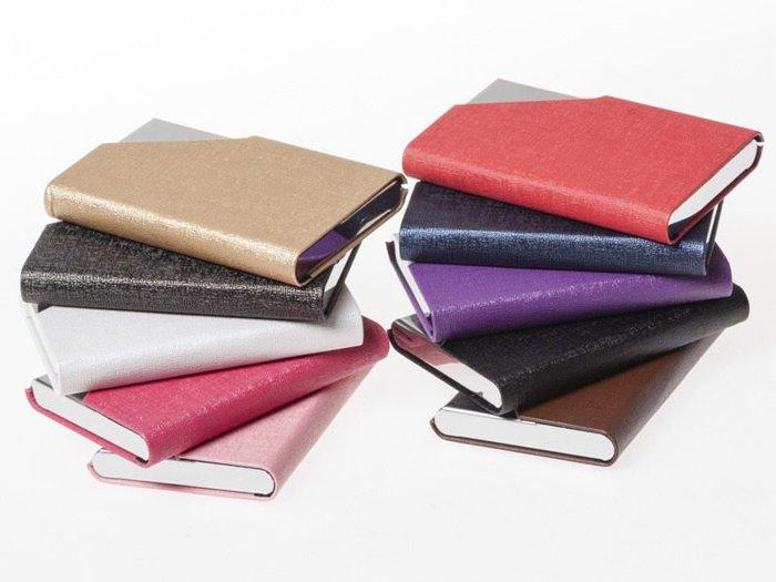 【幸福二次方】甲骨紋磁吸式不鏽鋼名片夾 信用卡包/名片夾/名片盒/卡夾 - 多色可選