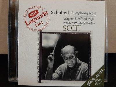 "Solti,Schubert-Sym No.9""The Great"",Wagner-Siegfried Idyll蕭提-舒伯特第九號""偉大"",華格納-齊格菲牧歌"