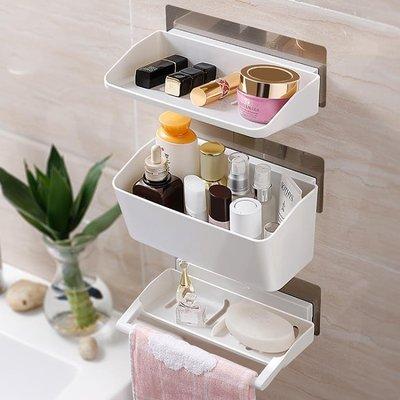 衛生間吸盤置物架塑料浴室廚房吸壁式洗手間廁所收納架壁掛免打孔