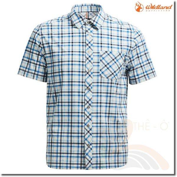 荒野 WILDLAND  男款彈性格子襯衫 0A71208-72 透氣 涼爽 抗UV 柔軟 免運費 喜樂屋戶外