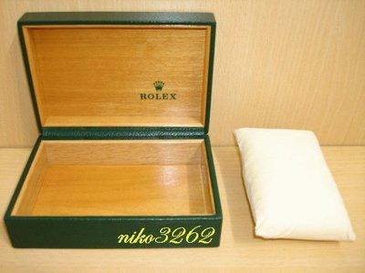 :: NiKo HoUsE ::【ROLEX 勞力士】原廠綠色錶盒 / 附錶枕