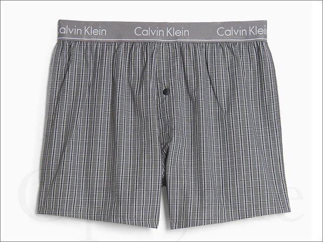 真品 Calvin Klein CK卡文克萊純棉 寬鬆內褲平口褲四角褲男內著 灰色格紋 S M L 號 愛COACH包包