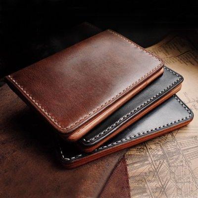 拓荒者革製所。Studio真皮卡包證件收納包 護照夾 霍爾文皮馬韁革手縫 Horween牛皮護照包