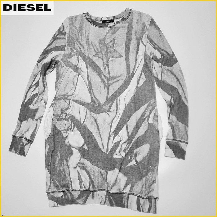 日本二手衣✈️DIESEL 迷彩 長版T恤 圓領T 長袖T恤 休閒T 長T恤 義大利品牌 DIESEL 女裝 A32F1