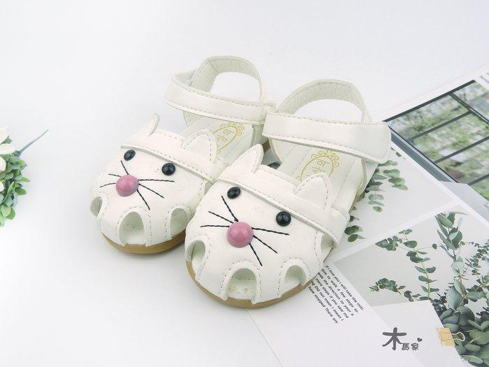 [木馬家](13.5-15.5公分)(2-4歲)可愛貓咪兒童涼鞋 當季新款