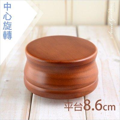 音樂青蛙Sweet Garden, 8.6cm古典木製音樂台 DIY蜂蜜色原木圓形旋轉音樂盒底座(可選曲) 台中自取